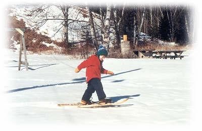 Snowshoeing and cross country skiing trails are plentiful - snowshoe trail right out the door & Outpost Motel Grand Marais Minnesota motel lake superior cross ...